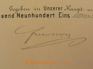 87061 - 1901 FRANZ JOSEPH I. (1830–1916), rakouský císař, podpis na
