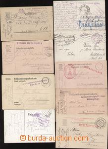 87147 - 1915-16 sestava 9ks lístků FP, vše odesláno z Brna, 4x n