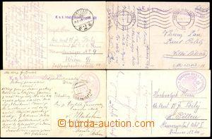 87150 - 1914-17 sestava 4 kusů místopisných pohlednic, odesláno