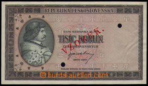 87240 - 1945 ČSR II. státovka 1000Kčs, ANULÁT, bez uvedení série, 2x