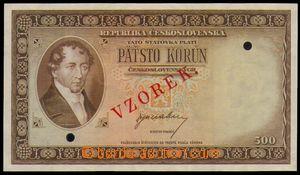 87243 - 1945 ČSR II. státovka 500Kčs, ANULÁT, bez uvedení série, 2x