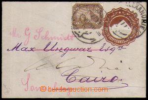 87347 - 1898 celinová obálka s vytištěnou zn. 1Mil v hnědé barvě, fo