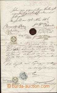 87631 - 1856 RAKOUSKO, ITÁLIE  plná moc s přípisy civilních i vojens