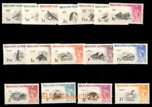 87655 - 1960 Mi.123X,Y-137, Ptáci, kat. 220€