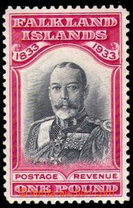 87659 - 1933 Mi.70, Král Jiří V. 1£, kat. 2200€