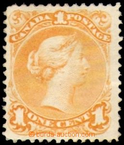 87685 - 1869 Mi.18, Královna Viktorie 1C oranžová, kat. 1000€
