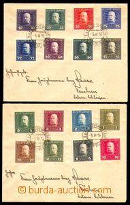 87692 - 1916 2ks filatelistických dopisů s bohatými frankaturami