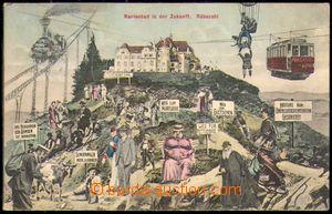 87702 - 1912 MARIÁNSKÉ LÁZNĚ (Marienbad) - koláž město v budoucnosti