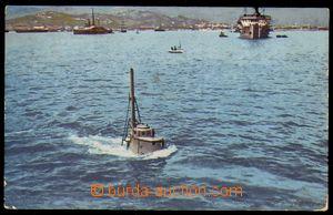 87744 - 1913 S.M. Unterseeboot III, přístav Pula, prošlá do Čec