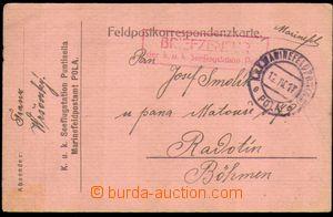 87761 - 1917 K.u.K. SEEFLUGSTATION POLA  červené rámečkové cenz
