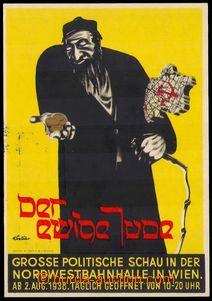 87784 - 1938 VÝSTAVA Der ewige Jude, WIEN, barevná propagační po