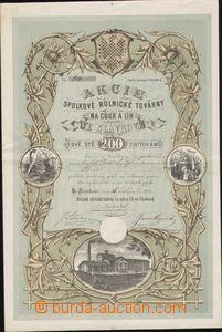 87824 - 1872 RAKOUSKO-UHERSKO akcie spolkové rolnické továrny na cuk