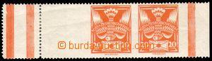 87825 -  Pof.148 20h oranžová, pravá část protichůdných dvojic (148T