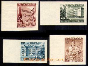 87856 - 1943 Alb.NZ94-97N, Kulturní, kompletní série nezoubkovaných