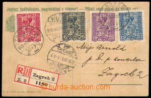 87871 - 1918 filatelisticky motivovaná R celistvost, maďarská dop