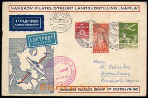 87891 - 1935 Let-dopis vyfr. zn. Mi.143, 196 a 218, PR Nakskov/ Nafi