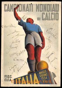 87894 - 1934 SPORT / FOTBAL  oficiální plakát 2. mistrovství světa v