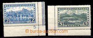 87943 - 1926 Pof.229, 232, Praha, Tatry, rohové kusy s okraji a DČ