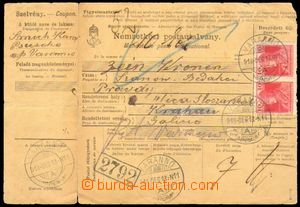 87958 - 1918 whole Hungarian credit note, franked with Hungarian stm