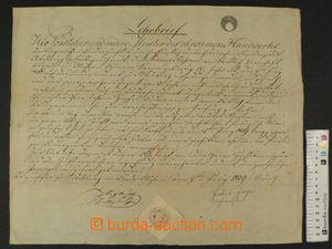 87998 - 1839 RAKOUSKO / TOVARYŠSKÝ LIST / MIKULOV  vtištěný kolek 1Z