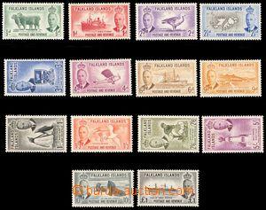 88018 - 1952 Mi.102-115, Jiří VI. + motivy, kompletní série, bezvadn