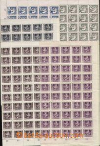 88022 -  Pof.27, 29-32, sestava 5ks kompletních 100-známkových ar