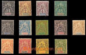 88124 - 1892 Mi.1-13 Alegorie, kompletní série, stopy po nálepká