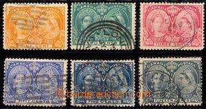 88185 - 1897 sestava 6 kusů známek klasiky ze série 60. narozenin