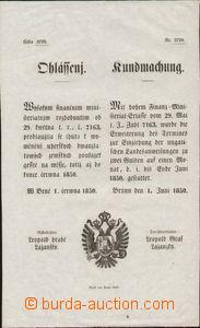 88232 - 1850 RAKOUSKO / BRNO  I. června 1850 , výměna uherských pouk
