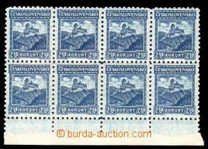 88235 - 1926 Pof.222, Karlštejn 1,50Kč modrá, 8-blok s dolním ok