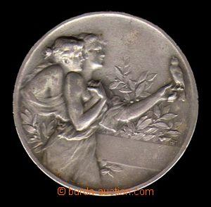 88291 - 1900 LITOMĚŘICE  Spolek ptactva, Ag medaile, průměr 40mm