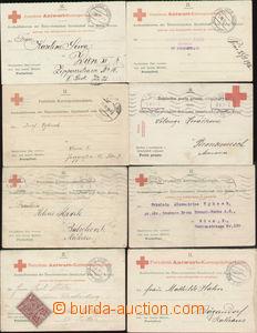 88310 - 1914-17 ČERVENÝ KŘÍŽ  sestava 8ks odpovědních dopisni