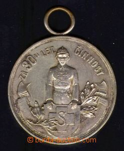 88316 - 1930 HASIČI  Ag pamětní medaile, Za 30 let činnosti