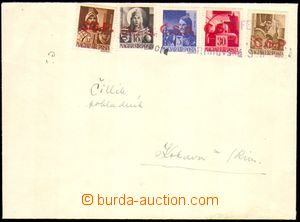 88319 - 1945 RIMAVSKÁ SOBOTA  dopis vyfr. maďarskými zn. Mi.707, 708