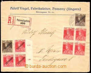 88412 - 1919 commercial Reg letter to Vienna, franked with Hungarian
