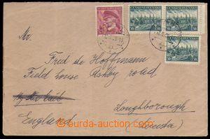 88639 - 1939 dopis do Velké Británie vyfr. zn. Pof.344 3x, 352, DR