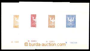 88665 - 1945 OLOMOUC sestava 4ks aršíků s Orlicí s hodnotou 80 o