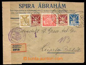 88703 - 1922 JUDAIKA  firemní R-dopis do Německa, firma Spira Abra