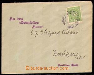 88705 - 1918 dopis do Německa jako tiskopis s předběžnou frankaturou