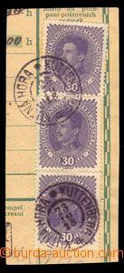 88710 - 1918 ústřižek průvodky s předběžnou frankaturou zn. Karel 30