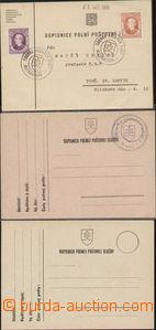 88717 - 1939 sestava 3ks lístků PP, razítka 1x SBĚRNA PP RUŽOMB