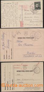 88723 - 1939-41 sestava 3ks lístků PP, DR PP 6a (čsl. vylámané)