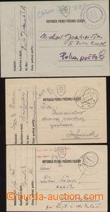 88724 - 1939 sestava 3ks lístků PP, DR PP 16a (čsl. vylámané),
