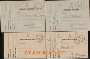 88727 - 1939-41 sestava 4ks lístků PP, DR PP 6a (2 kusy, 1x modré