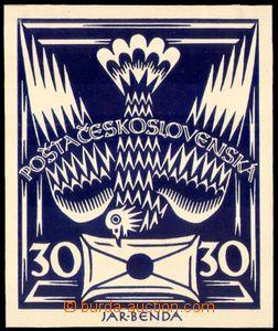 88734 -  ZT  30h modrá, náhledový tisk, křídový papír, formát obrazu