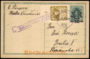 88756 - 1919 CDV1, Velký monogram - Karel, zaslaná v II.TO, dofr. do