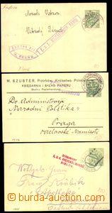 88779 - 1915-16 sestava 3ks dopisnic, 1x reklamní přítisk, DR EPA