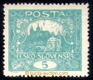 88836 -  Pof.4A, 5h modrozelená, HZ 13¾:13½, podtyp pří
