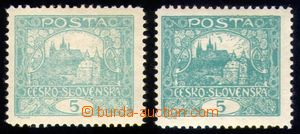 88837 -  Pof.4D, 5h modrozelená, ŘZ 11½, 2ks zn. - světlý a