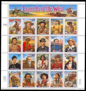 88865 - 1994 Sc.2506-2525, Legends of the West, chybotisk Bill Picke